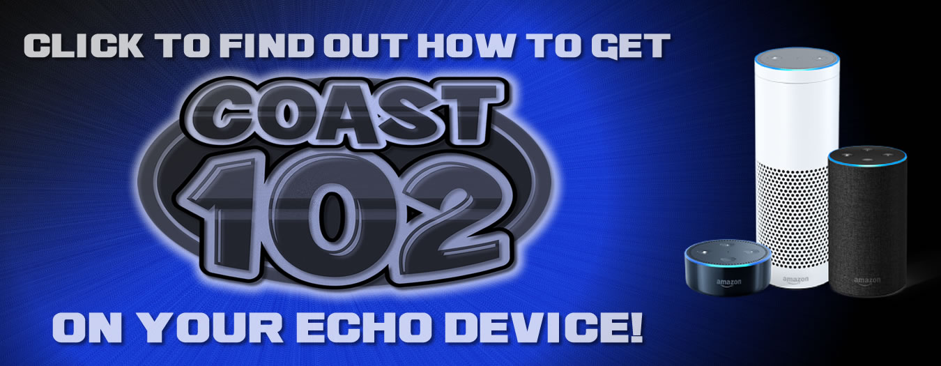 Get Coast 102 on Your Echo Device